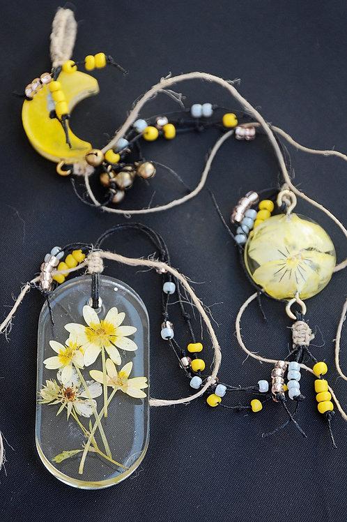 Yellow Flowers Suncatcher