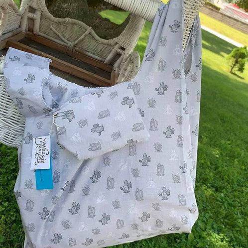 Reusable Fold Away Shopping Bag Cactus