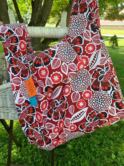 Reusable Fold Away Shopping Bag Flowers & Leaves