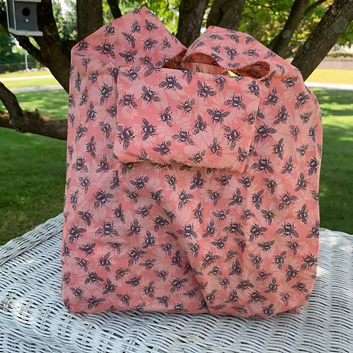 Reusable Fold Away Shopping Bag Bees