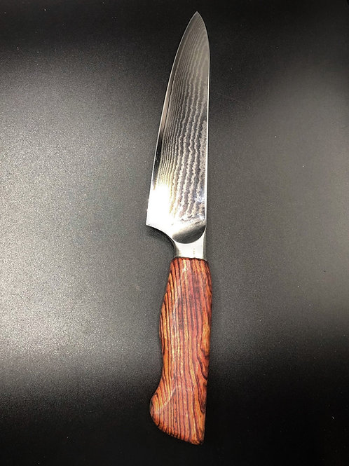 "8"" Chef Knife with Honduran Rosewood"