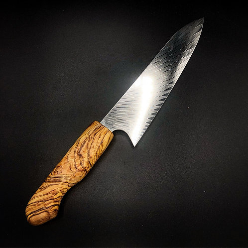 "8"" Chef Knife with Olivewood Handle"