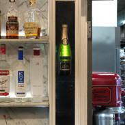 Champagne Bottle Sconce Lit