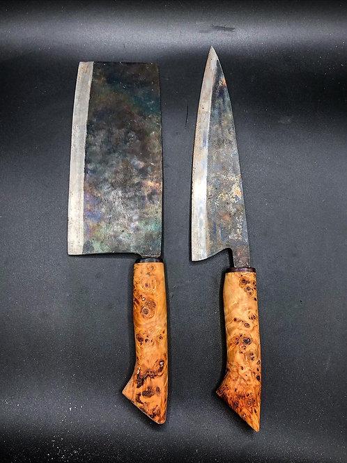 Dau Vua 9.25 Chef Knife and Chinese Cleaver Set