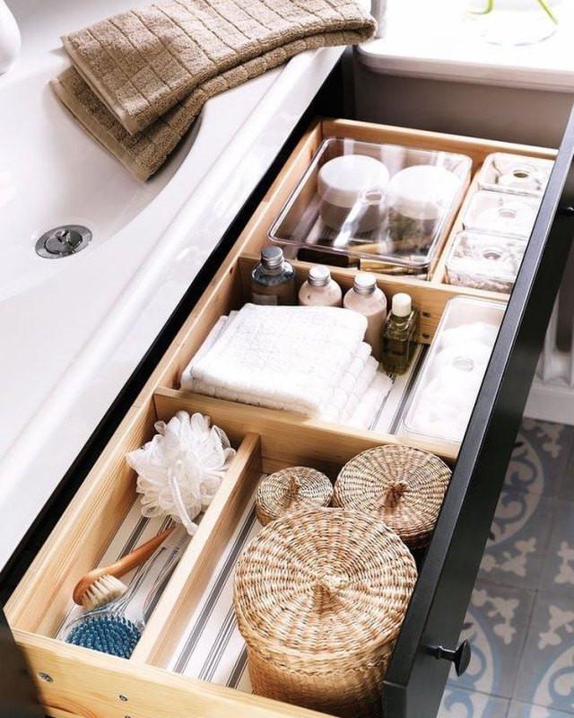 drawer organizer, drawer clutter solutions, bathroom and kitchen drawer organizing, storage solutions