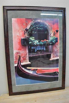 Red Venice Cannals Framed Art