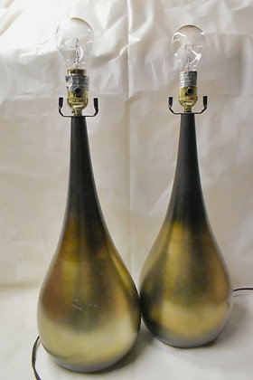 Green/Gold Ombre Teardrop Lamp (set of 2)