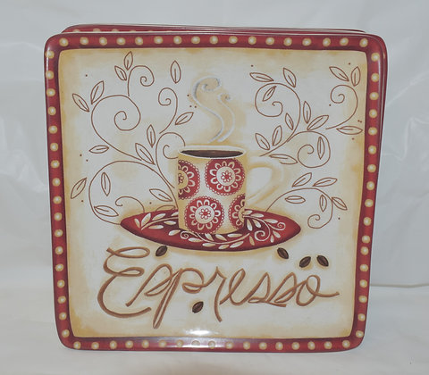 Coffee Theme Salad Plates (set of 4)