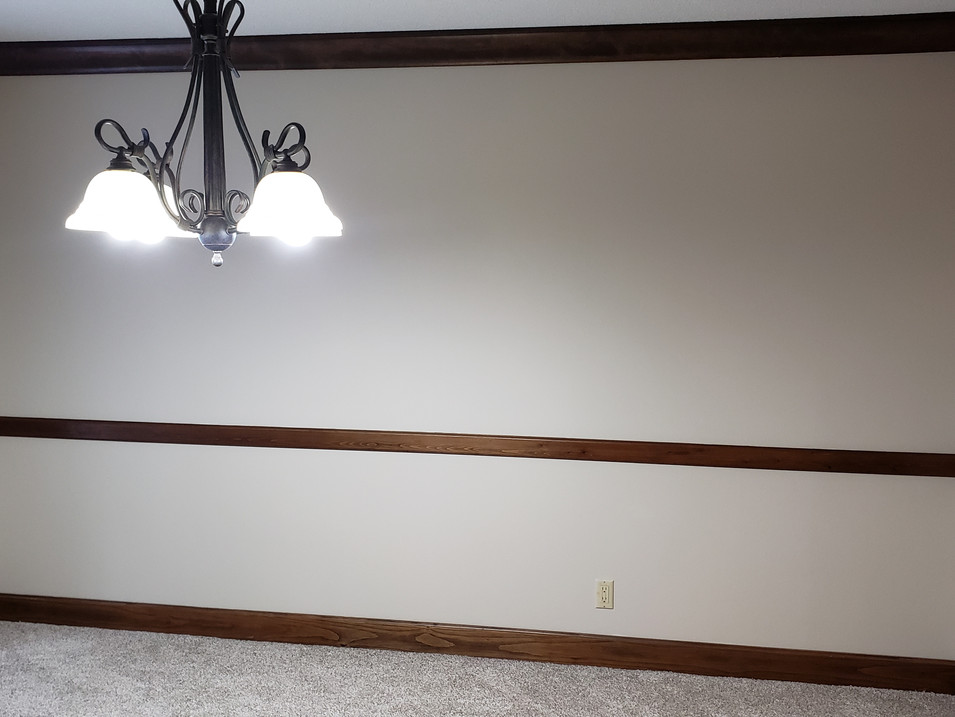 vacant dining room