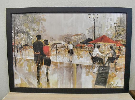 French Cafe Framed Art