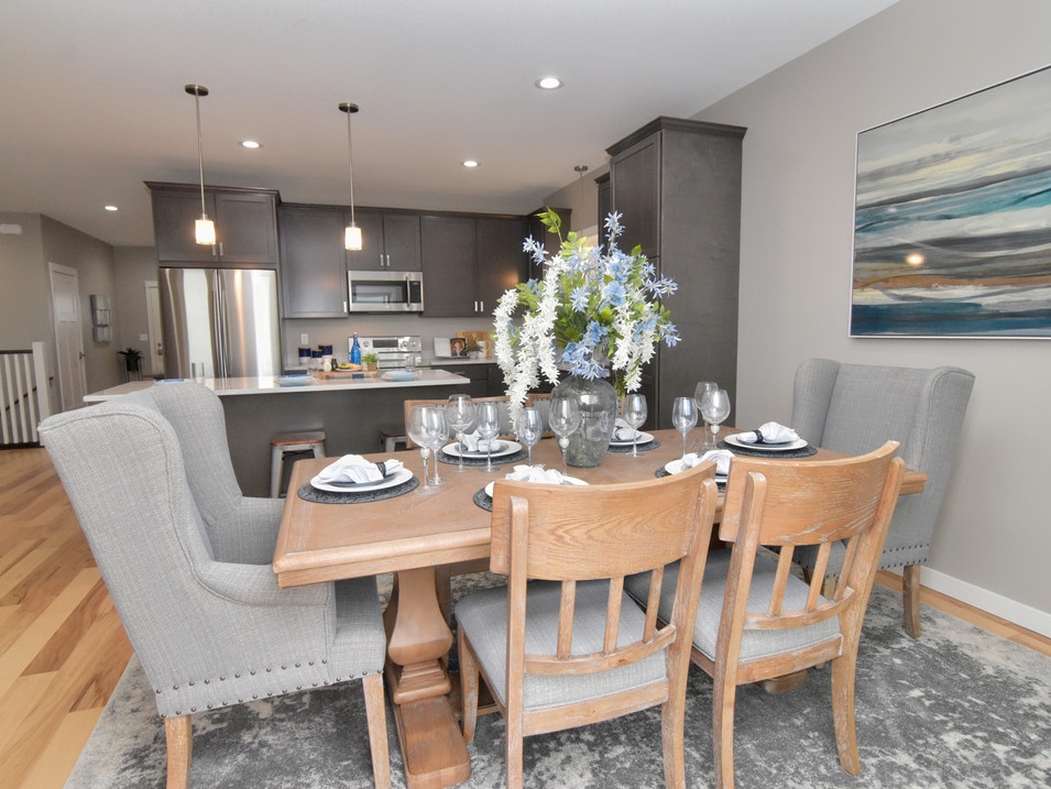 dining/kitchen in custom builders home