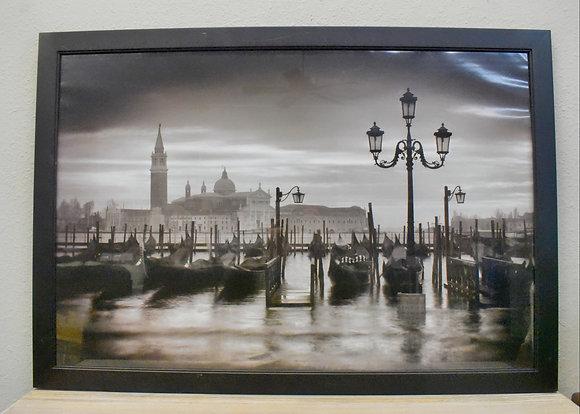 Black and White Venice Framed Art