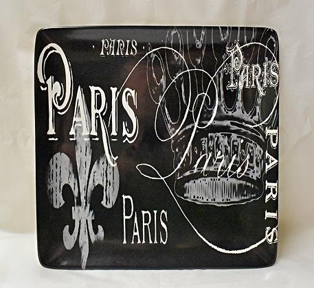 Black and White Ceramic Paris Platter