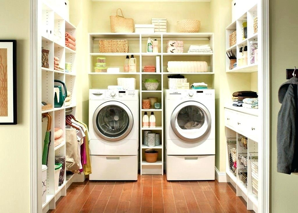 laundry room, laundry room organization, storage solutions, utility room storage, built in shelving solutions