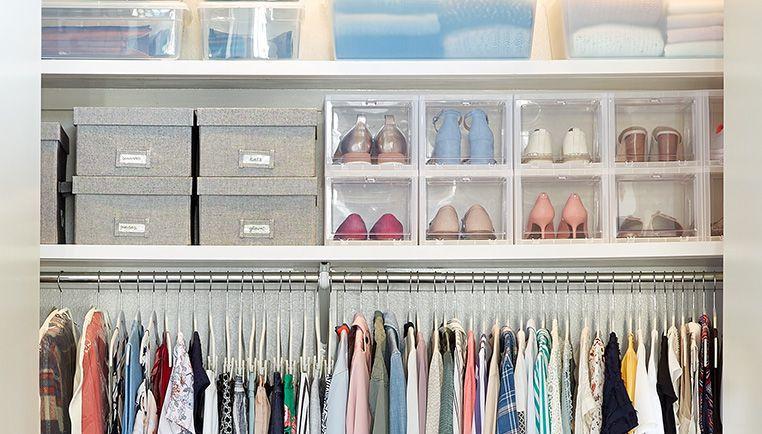 closet organization, seasonal storage, rotating storage, rotate seasonal storage items