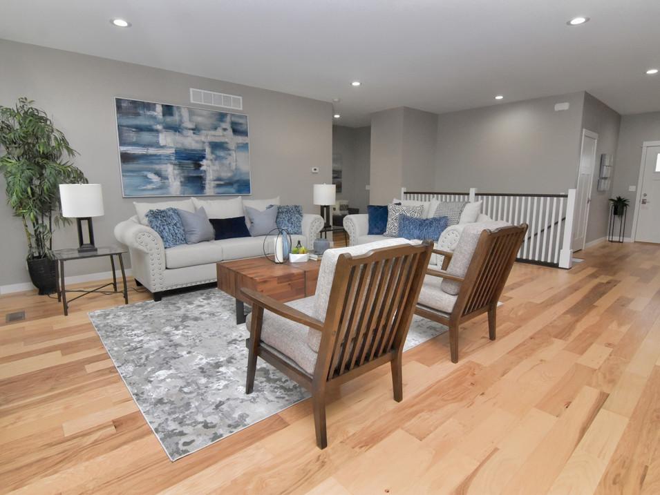 living/great room in custom builders home