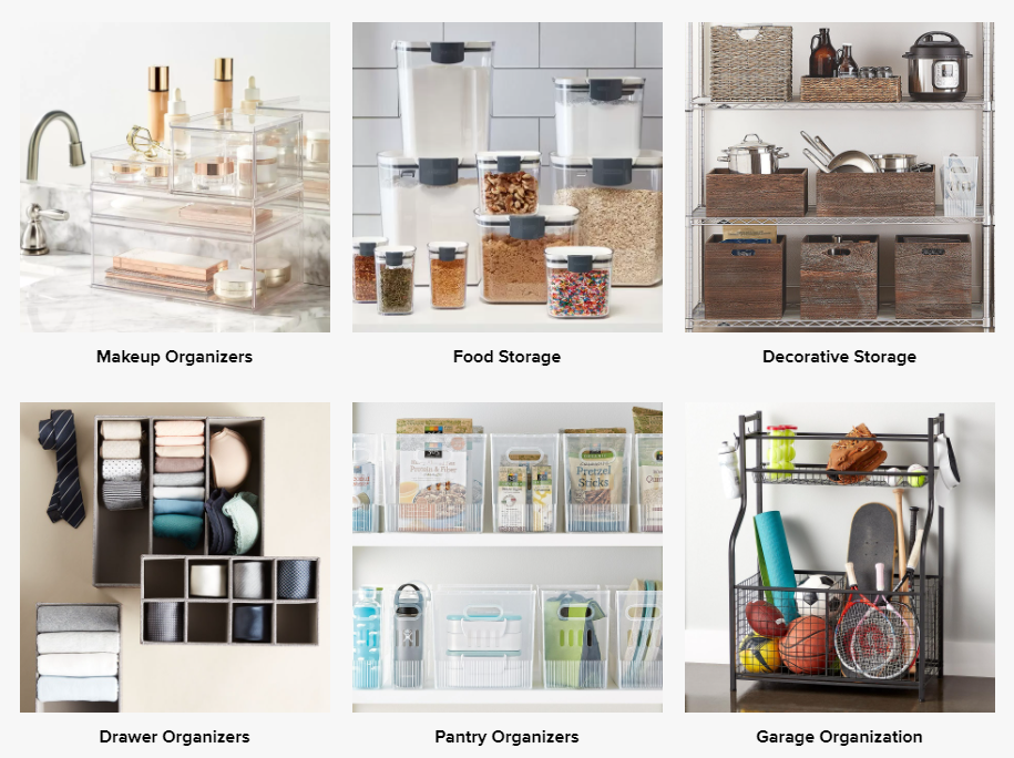 storage solutions, organizing solutions, organizational containers, storage containers, storage baskets, pantry organizers, drawer organizers, home organizing