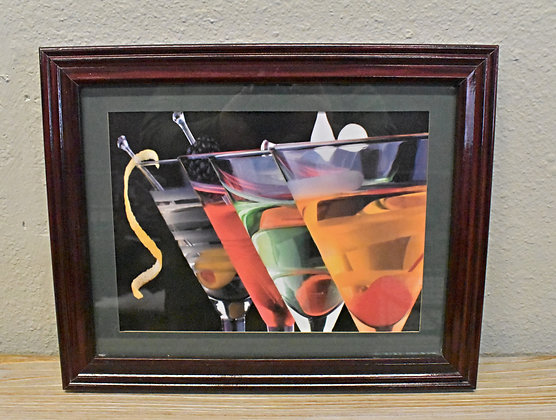 Framed Martini Art