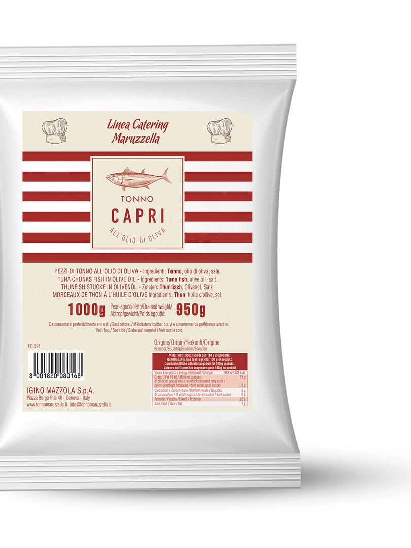 Busta Tonno Capri olio di oliva 1kg