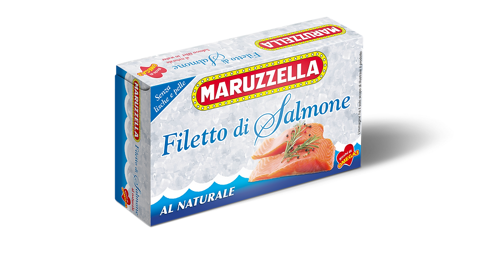 Natürliches Maruzzella-Lachsfilet 150g