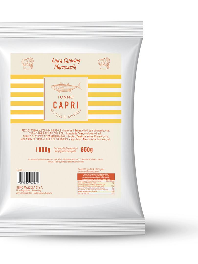 Busta Tonno Capri olio di girasole 1kg
