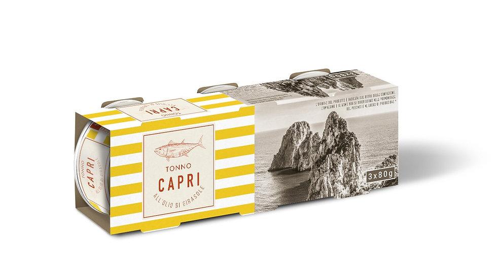Tonno Capri all'olio di girasole 80gx3