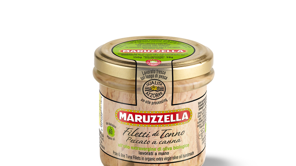 Filetti di Tonno Maruzzella olio extravergine di oliva Bio 150g