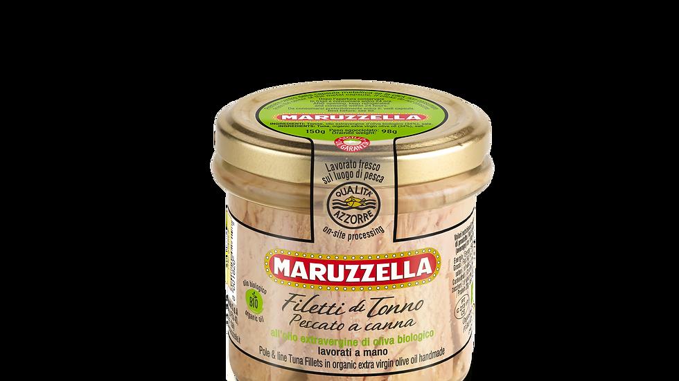 Maruzzella Thunfischfilets Bio natives Olivenöl extra 150g