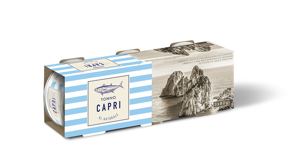 Tonno al Naturale Capri 80gx3