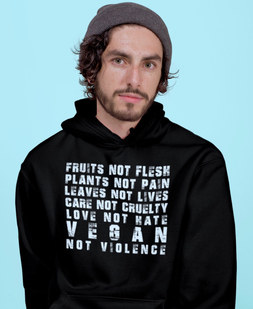 vegan not violence tshirt
