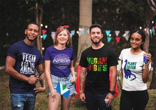 Vegan Family Shirts. Vegan for the Animals t shirt, Vegan Vibes t shirt, Ahimsa t shirt, Plant Eater t shirt