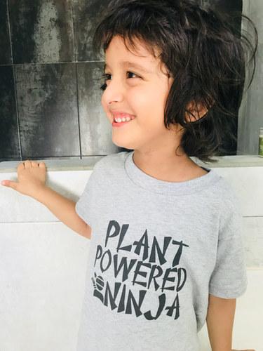 plant powered ninja t shirt. funny vegan t shirt