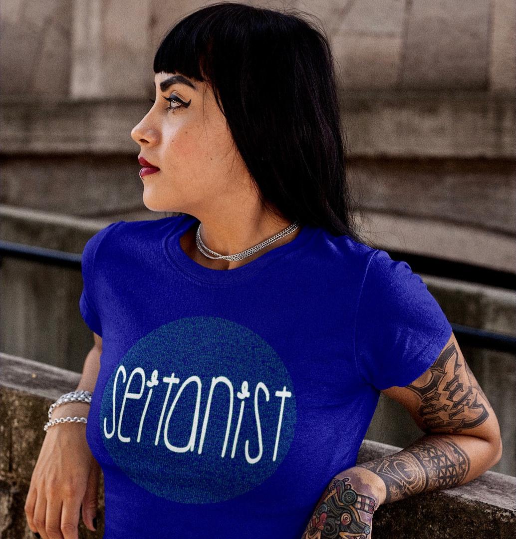 Seitanist t Shirt, Funny Vegan T Shirt, Hail Seitan T Shirt