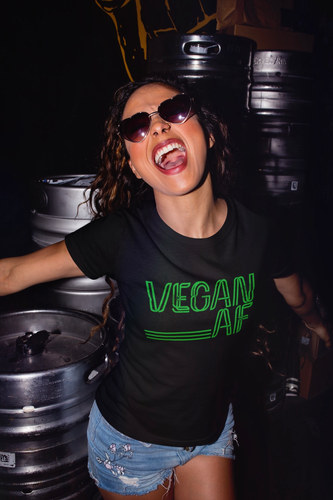 Vegan AF t Shirt. Funny Vegan t shirt