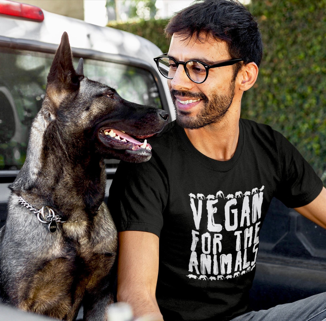 vegan for the animals t shirt