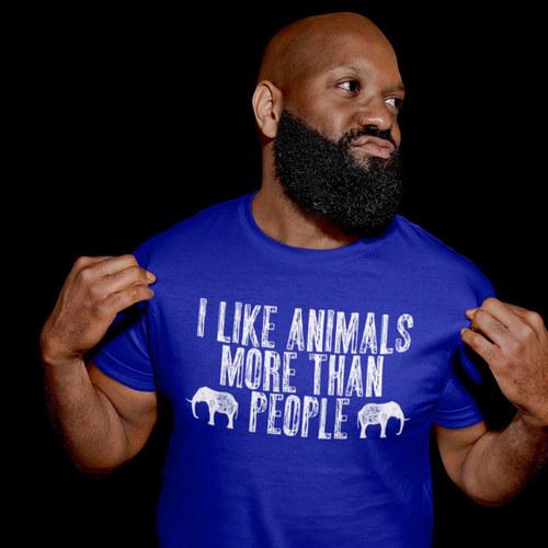 i like animals more than people vegan t shirt