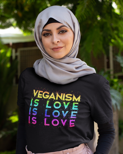 veganism is love t shirt