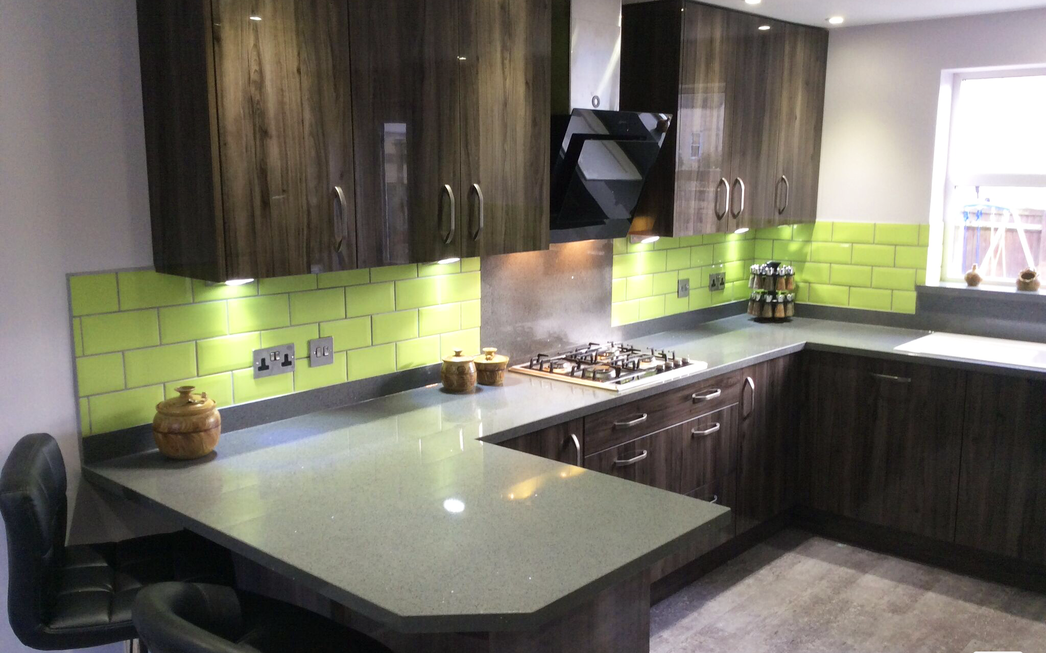 Wood Effect Vinyl Kitchen Doors