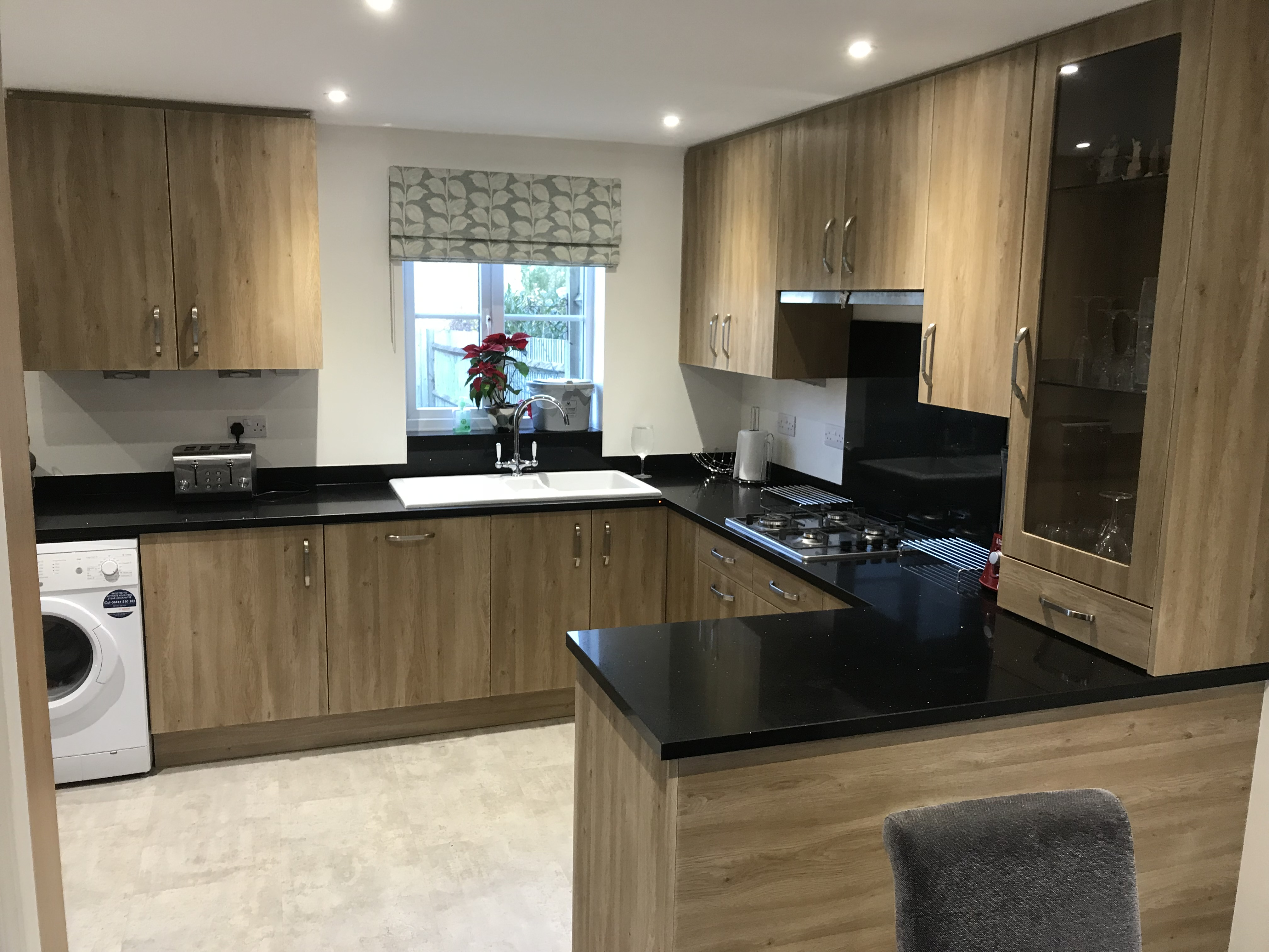 Natural Wood and Granite Worktop