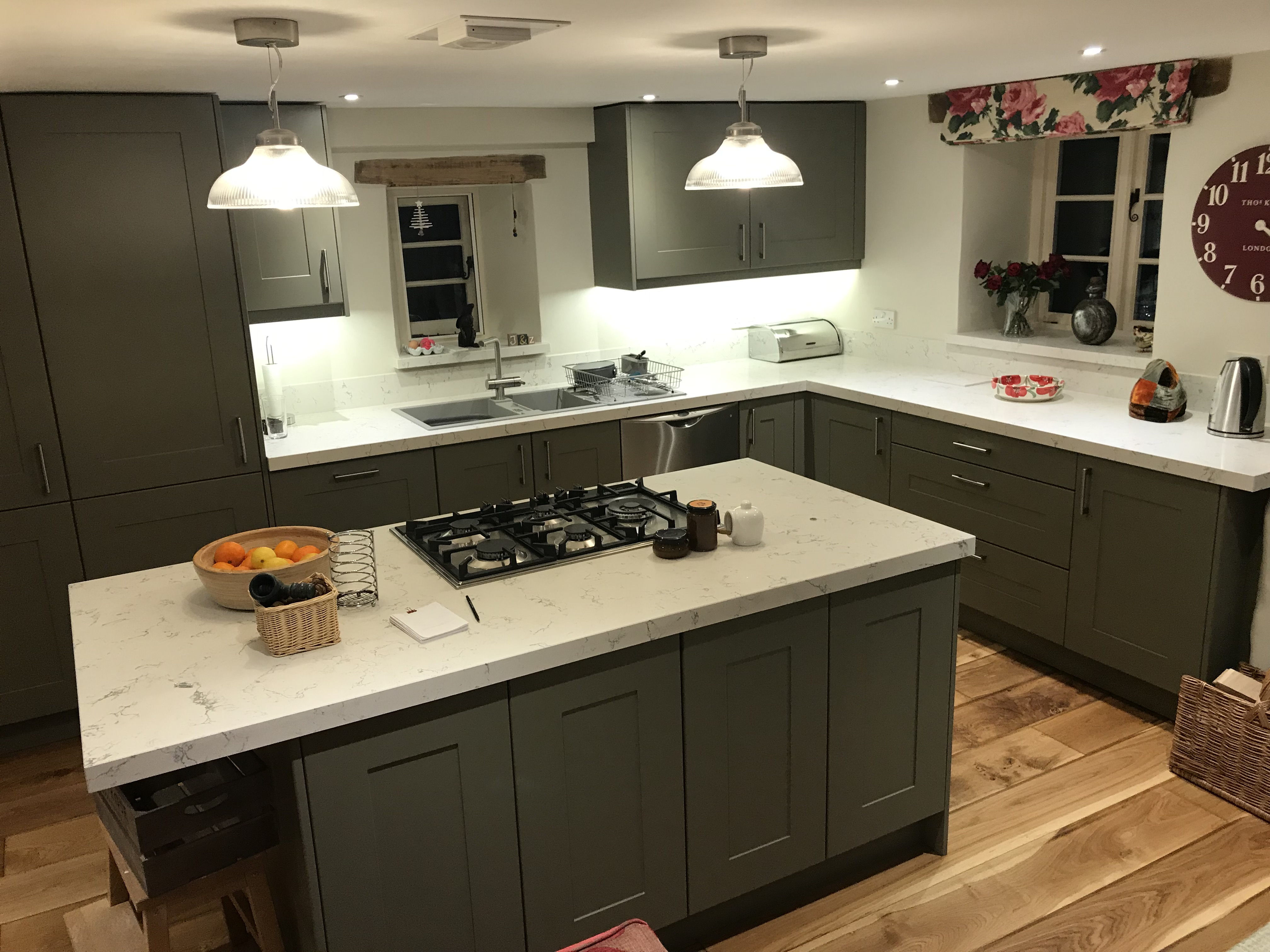 Grey Kitchen Doors and Light Granite