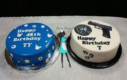Twin Brothers Birthday cake