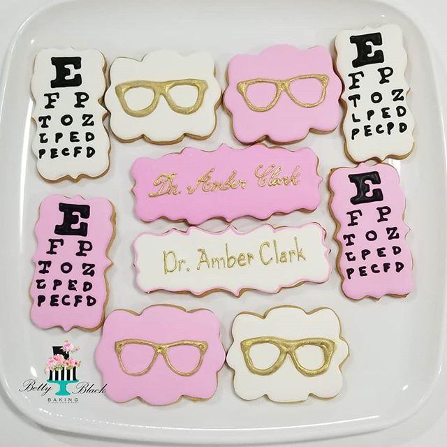 Optometrist cookies. Congrats Dr