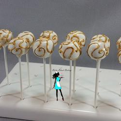 Gold Swirl Cake pops