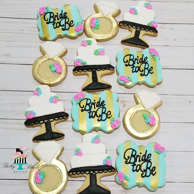 She said YES! Bridal shower cookie set