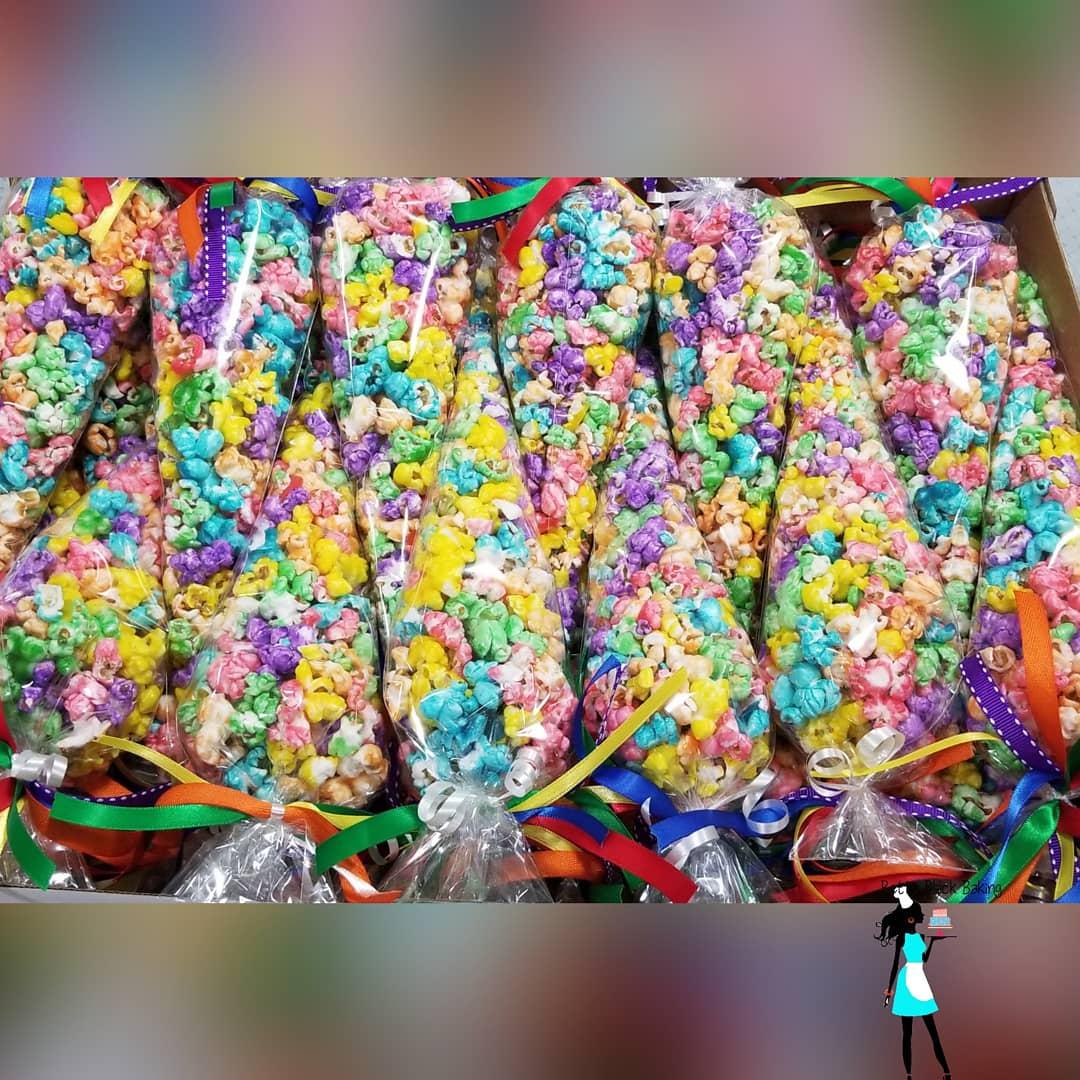 rainbow candied popcorn