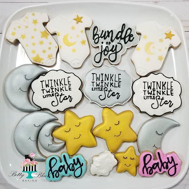Twinkle Twinkle Baby shower cookies#cust