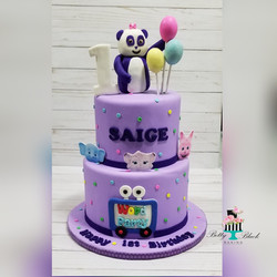 Word Party Birthday Cake