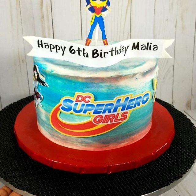 Happy 6th Birthday to my little girl!! #superherogirls#celebrate#girlcakes#954baker#familytime#cakef