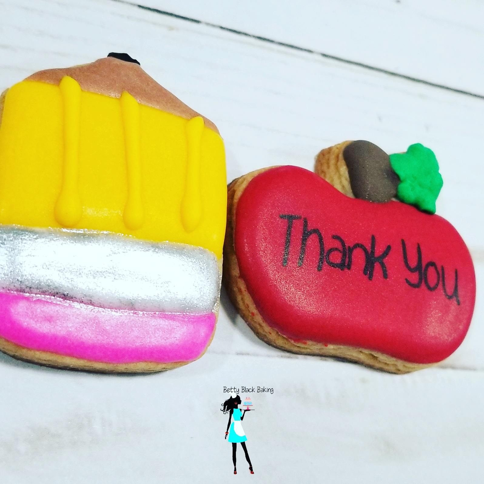 Mini teacher appreciation cookies