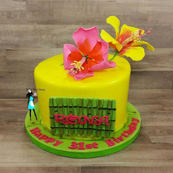 Polynesian Themed Birthday cake